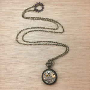 alphavariable steampunk watch necklace