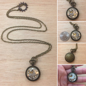Watch Part Necklace - Necklace - AlphaVariable