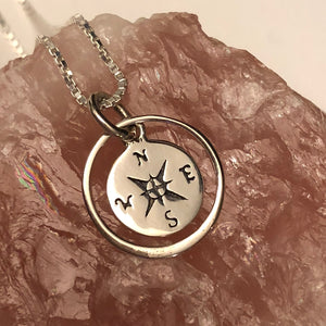 Compass Necklace - Necklace - AlphaVariable