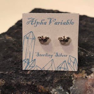 Crown Stud Earrings - Earrings - AlphaVariable