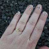 Gold Moon and Star Ring - Ring - AlphaVariable