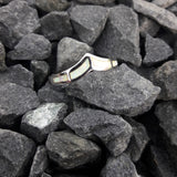 Opal Chevron Ring Sterling Silver - Ring - AlphaVariable
