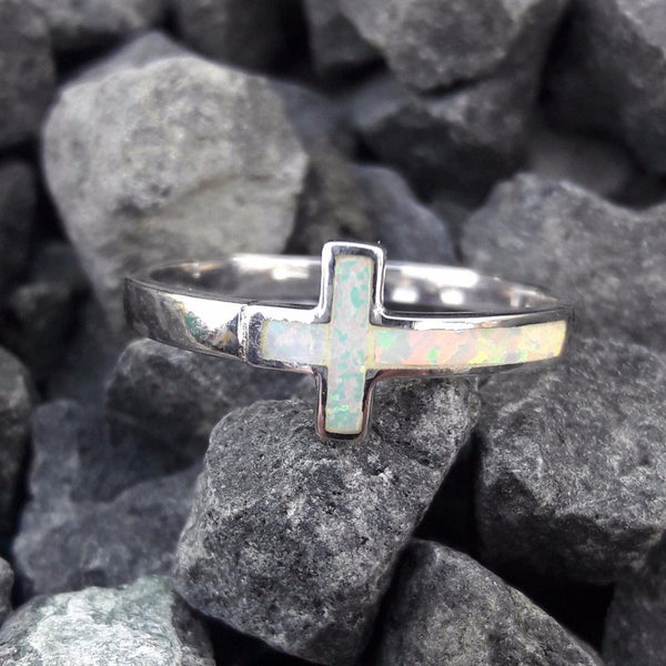 Opal Cross Ring - Ring - AlphaVariable