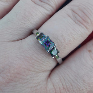 Mystic Topaz Sterling Silver Ring - Sterling Silver Rings - AlphaVariable