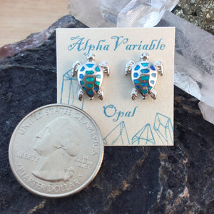 DPS Sterling Silver Opal Earrings - Earrings - AlphaVariable LifeStyle Brand