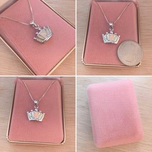 Sterling Silver Opal Crown Necklace - Necklace - AlphaVariable