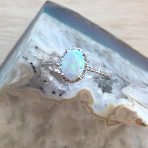Opal Ring Sterling Silver - Ring - AlphaVariable LifeStyle Brand