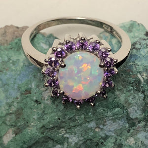 Opal Amethyst Ring - Ring - AlphaVariable