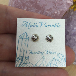 alphavariable soccer ball earrings