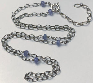 Tanzanite Necklace - Necklace - AlphaVariable