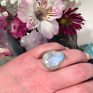 Teardrop Moonstone Ring - Ring - AlphaVariable
