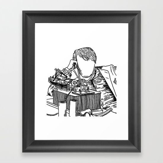The Inventor Framed Art Print - Framed Art Prints - AlphaVariable