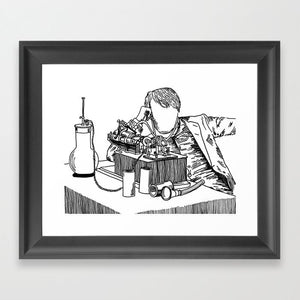 The Wizard of Menlo Park Framed Art Print - Framed Art Prints - AlphaVariable