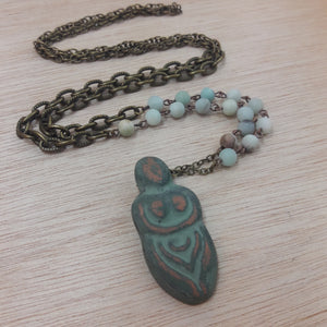 #AlphaVariable #Jewelry #Amazonite #Crystal #Necklace