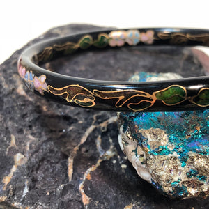 Vintage Cloisonne Bangle Bracelet - Bracelet - AlphaVariable