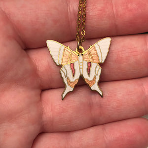 Vintage Cloisonne Butterfly Necklace