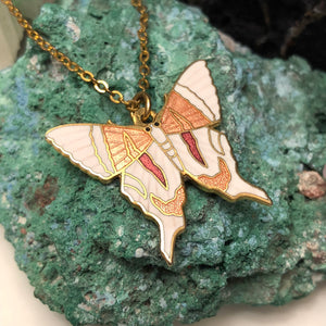 Vintage Cloisonne Butterfly Necklace -  - AlphaVariable