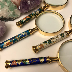 Vintage Cloisonne Magnifying Glass - Vintage Cloisonne Gifts - AlphaVariable