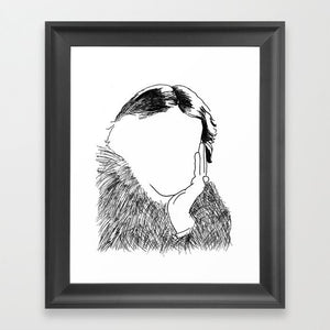 Virginia Woolf Framed Art Print - Framed Art Prints - AlphaVariable