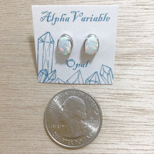 Opal Stud Earrings - Earrings - AlphaVariable