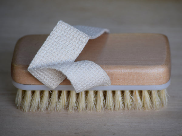 Boar Bristle Brush with Hand Strap