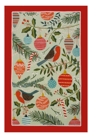 "Ulster Weavers, ""Between the Branches"" Pure cotton printed tea towel."