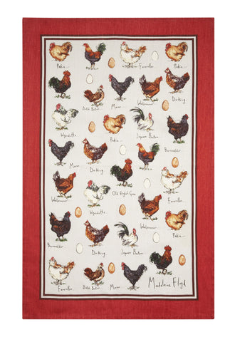 "Ulster Weavers, ""Chicken & Egg"" by Madeleine Floyd, Pure cotton printed tea towel - Home Landing"