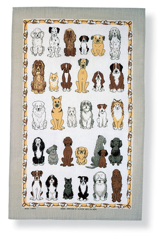 "Ulster Weavers, ""Dogs Arrived"", Pure cotton printed tea towel - Home Landing"