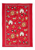 "Ulster Weavers, ""Festive Friends"", Pure cotton printed tea towel."