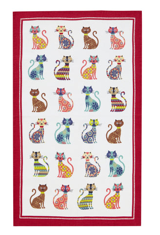 "Ulster Weavers, ""Groovy Cats"", Pure cotton printed tea towel - Home Landing"