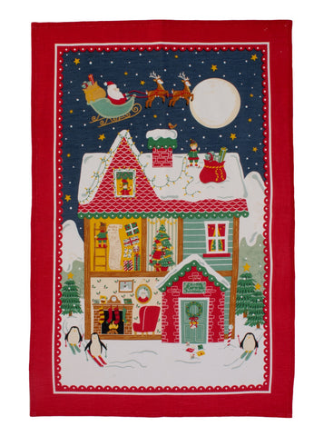 "Ulster Weavers, ""Santa"" Pure cotton printed tea towel - Home Landing"