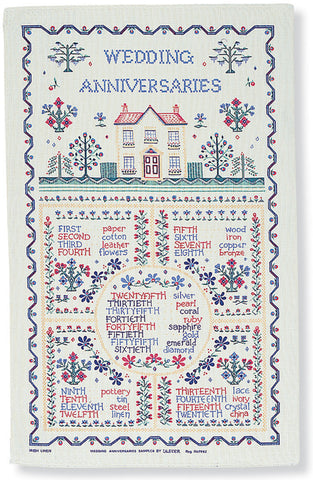 "Ulster Weavers, ""Wedding Sampler"", Pure cotton printed tea towel - Home Landing"