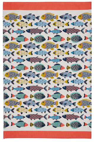 "Ulster Weavers, ""Aquarium"", Pure cotton printed tea towel. - Home Landing"