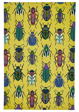 "Ulster Weavers, ""Beetles"", Pure cotton printed tea towel. - Home Landing"