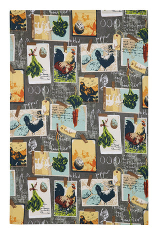 "Ulster Weavers, ""Chalkboard Chickens"", Pure cotton printed tea towel. - Home Landing"