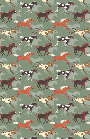 "Ulster Weavers, ""Canter"", Pure cotton printed tea towel"