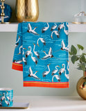 "Ulster Weavers, ""Cranes"", Pure cotton printed tea towel. - Home Landing"