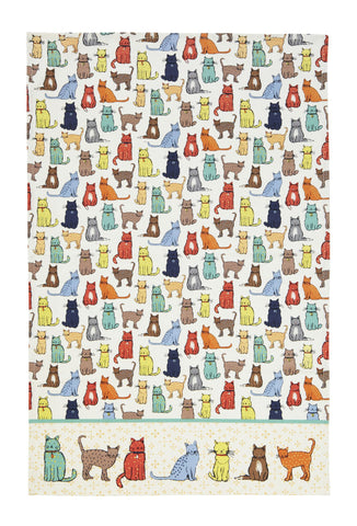 "Ulster Weavers, ""Cat Walk"", Pure cotton printed tea towel - Home Landing"