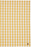 "Ulster Weavers, ""Gingham Yellow"", Woven cotton tea towel."