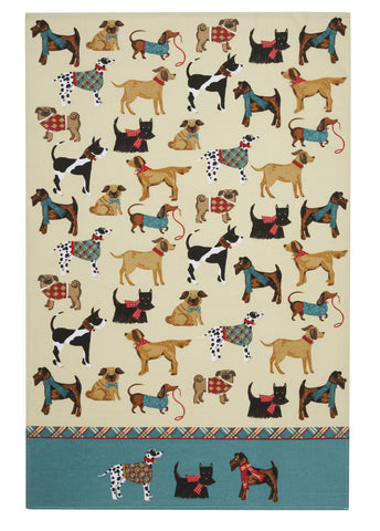 "Ulster Weavers, ""Hound Dog"", Pure Cotton printed tea towel"