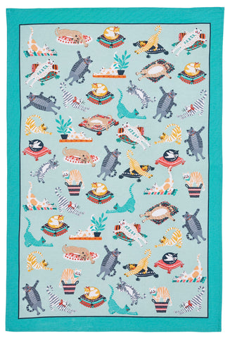 "Ulster Weavers, ""Kitty Cats"", Pure cotton printed tea towel. - Home Landing"