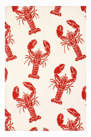 "Ulster Weavers, ""Lobster"", Pure cotton printed tea towel - Home Landing"
