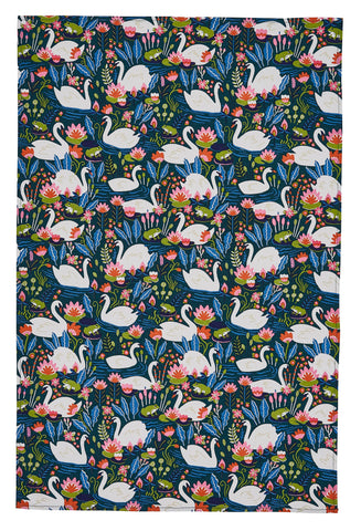 "Ulster Weavers, ""On the River"", Pure cotton printed tea towel. - Home Landing"