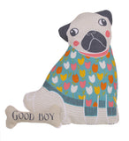"Ulster Weavers, ""Percy Pug"", Pure cotton tea towel. Printed in the UK. - Home Landing"
