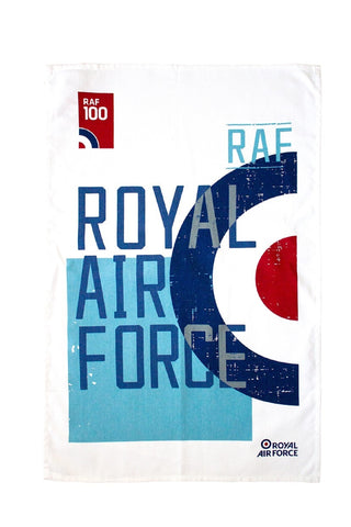 "Ulster Weavers, ""RAF 100 Roundel"", Pure cotton tea towel. Printed in the UK. - Home Landing"