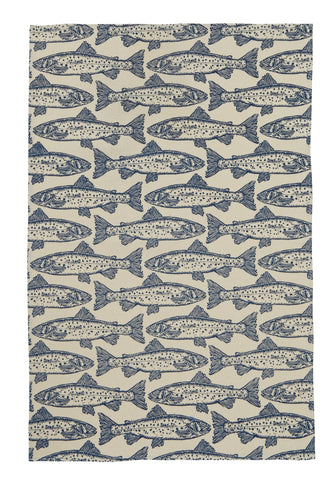 "Ulster Weavers, ""Salmon"", Pure cotton printed tea towel - Home Landing"