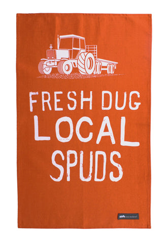"Ulster Weavers, ""Mini Moderns Spuds"", Pure Cotton printed tea towel - Home Landing"