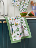 "Ulster Weavers, ""Tropical Birds"" by Madeleine Floyd, Pure cotton printed tea towel - Home Landing"