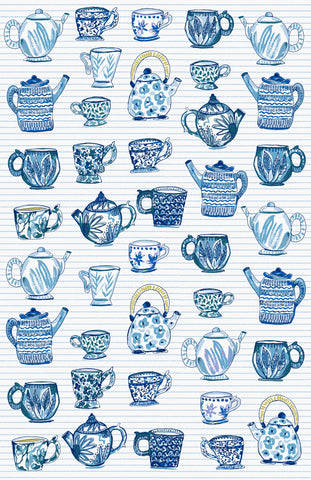 "Ulster Weavers, ""Tea Cup"", Cotton tea towel. Printed in the UK."