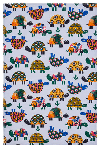 "Ulster Weavers, ""Turtles"", Pure cotton printed tea towel. - Home Landing"